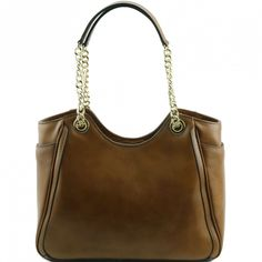 TL NeoClassic - Shopping bag with leather and chain handles - BAGS - Women - Genuine Leather Verapellestore.com
