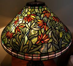 Tiffany Reproduction Stained Glass Black Eyed Susan Lamp Shade 20W | eBay