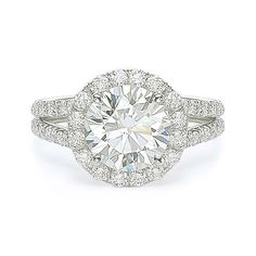 4.25 ct E SI2 ROUND BRILLIANT CUT DIAMOND ENGAGEMENT RING 14K WG At-http://www.larrysfinejewelryinc.com
