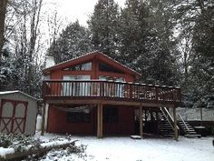 Pocono Vacation Rental /Hot Tub/Pool Table/Air Hockey/BBQ/Camelback/JF/BB/ Skii Vacation Rental in Blakeslee from Air Hockey, Pool Table, Home And Away, Ideal Home, Tub, House Rentals, Cabin, Vacation, House Styles