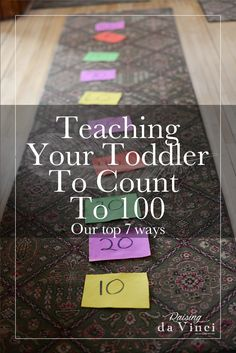 If you follow me on Instagram (@raisingdavinci) you might have seen me post that we started introducing our 3 year old to the 100's place value. We took our time with the tens and tried to teach him in several different ways along with his math program (Math-U-See) Here are our 7 favorite ways to...