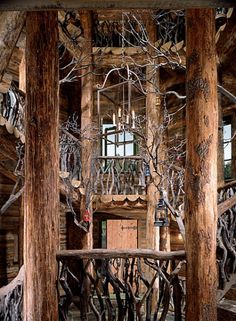 Buy fantasy tree house in Telluride, CO at Wish - Shopping Made Fun Tree House Interior, Deco Nature, Le Far West, In The Tree, Home And Deco, Cabins In The Woods, Architectural Digest, Log Homes, Stairways