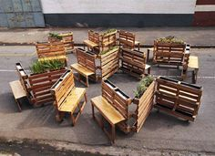 Brothers in benches pallet social project done in Johannesburg 3