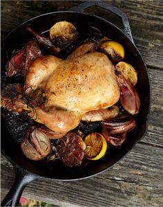 Dry-Brined Roast Chicken with Lemon / Justin Walker #entertaining