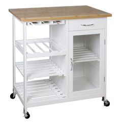 Wooden/Bamboo Kitchen Trolley Cart/Butcher's Trolley with Shelves & Drawer-BR101 £89.99 86 high x 76 wide x 48 deep