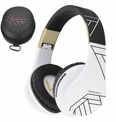 PowerLocus Bluetooth Over-Ear Headphones, Wireless Stereo Foldable Headphones Wireless and Wired Headsets with Built-in Mic, Micro SD/TF, FM for iPhone/Samsung/iPad/PC (Black/White) Wireless Headphones, Beats Headphones, Over Ear Headphones, Bluetooth, Music Express, Ipad, Samsung, Iphone, Black