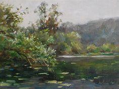 """Quail Hollow Ranch County Park"" - Original Fine Art for Sale - © Kelvin Lei"