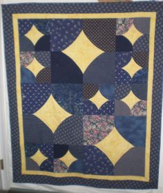 Finally quilted, 10 minute throw.