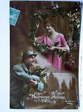 CARTE POSTALE ANCIENNE CPA - COUPLE SOLDAT GUERRE 1914 1918 - ANNEE 1916