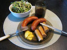 Bio debreceni és virsli napraforgó csírával   PaleoVital Sausage, Paleo, Meat, Food, Sausages, Essen, Yemek, Meals, Paleo Food