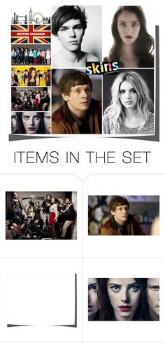 """""""Skins"""" by mariemarz ❤ liked on Polyvore featuring art, cook, Cassie, skins, effy and tony"""
