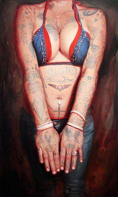 Shawn Barber - Portrait of the artist, Agatha Blois Oil on Canvas