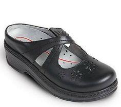 Klogs Open Back Leather Clogs - Carolina