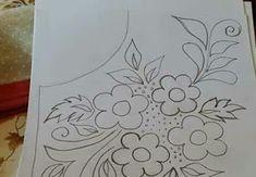 رشمات الطرز للقفطان والقندورة أجمل الموديلات الجديدة . للإستفادة Hand Quilting Patterns, Border Embroidery Designs, Wreath Drawing, Hungarian Embroidery, Designs To Draw, Art Drawings, Wreaths, Curtains, Quilts