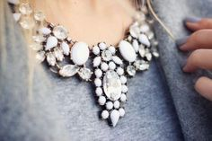 white j crew necklace- J.crew crystal statement necklace http://www.justtrendygirls.com/j-crew-crystal-statement-necklace/