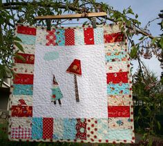 Gnome and Mushroom Doll Quilt by sewdeerlyloved, via Flickr