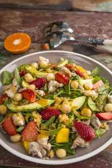 Photo of Fruity Chicken Salad with Minted Orange Dressing