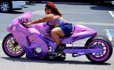 This Girl Ride N Low on her Custom Suzuki  Hayabusa'