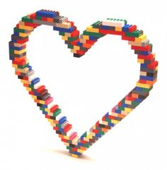 LEGO Heart! Only it had to be all red then I'll display it in my house!