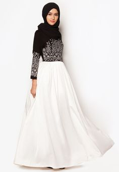 Zalia Embroidered Maxi Dress / Hijab needs more coverage. / Probably only available for Southeast Asian countries like Singapore, Malaysia, Brunei and Indonesia. Modest Wear, Modest Dresses, Modest Outfits, Woman Dresses, Cheap Dresses, Maxi Dresses, Bridesmaid Dresses, Islamic Fashion, Muslim Fashion