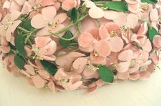 delicate vintage Pink Things | ... has the sweetest little cloth forget-me-nots. very old and delicate