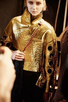 Gold Fashion, Fashion Details, Women's Fashion, Gold Jacket, Bespoke Tailoring, Gold Handbags, Fashion Articles, Gold Shoes, Gold Rush
