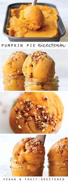 Pumpkin Banana Ice Cream | Vegan + Date-Sweetened I so want to try this!