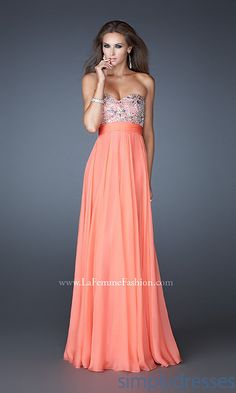 Coral Bridesmaids Dress.. cute standout for maid of honor