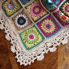 January 'a blanket is done, I will take better pictures outside when is not raining!! And also a blog entry with all the details too #grannysquare #stylecraft #crochet #blanket #bohemian #yarn #handmade