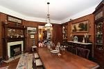 Dining room of Victorian home  Kensington, Maryland
