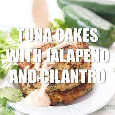 Fish Discover Tuna Cakes with Jalapeño and Cilantro These Tuna Cakes with Jalapeño and Cilantro are easy healthy affordable and delicious! Top them off with a Sriracha Aioli or serve them plain over a simple kale or arugula salad! Healthy Tuna Recipes, Tuna Fish Recipes, Canned Tuna Recipes, Healthy Salads, Cooking Recipes, Albacore Tuna Recipes, Cilantro Recipes, Sushi Recipes, Tuna Fish Cakes