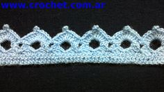 Sprig No. 38 to crochet Angel Crochet Pattern Free, Crochet Edging Patterns, Crochet Lace Edging, Crochet Diy, Crochet Borders, Crochet Squares, Thread Crochet, Baby Knitting Patterns, Crochet Doilies