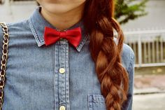 bow tie and braid