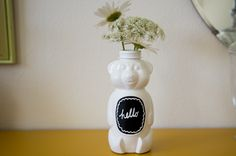 a bit of sunshine: honey bear vase
