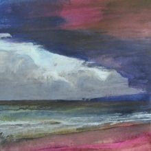 Storm over Old Harry 50 cm sq Acrylic Inks £335