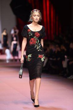 Dolce & Gabbana Fall 2015. See all the runways Gigi Hadid has walked.