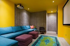 contemporary media room by Lucy Call