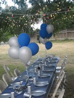 denim and diamonds party | Then next, on a tree, we had nailed from a string various pictures of ...