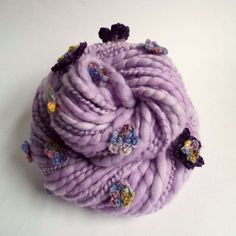 Flower art yarn chunky knitting yarn thick and by thefibretree