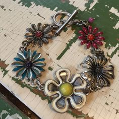 Toggle Lucky bracelet Flower power toggle Lucky bracelet-- sizing is pictured. Great shape... Lucky Brand Jewelry Bracelets
