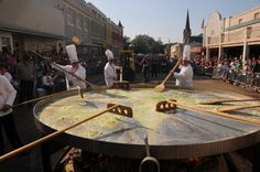 Along with the Whoopie Pie Festival, the Giant Omelette Celebration made the 11 Quirky Hidden Gem Food Festivals Worthy of a Drive list. Festivals In Louisiana, Abbeville Louisiana, Downtown Events, Abandoned Plantations, Louisiana Crawfish, Fairs And Festivals, Fall Festivals, Lafayette Louisiana, Louisiana History