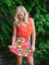 Show Me Your Mumu Tanya Tie Top - Red Chili Pepper