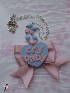 #crybaby #cry #baby #melaniemartinez #kawaii #cute #fairykei #necklace #cute #handmade #jewerly