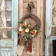 Fall Wreath, Fall Decor, Wreath, Door Decor by RcollectionandCo on Etsy https://www.etsy.com/listing/464723018/fall-wreath-fall-decor-wreath-door-decor