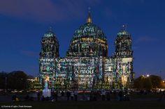Berliner Dom, Colours of Joy, motiv by Nancy Burson, Berlin, 2014.