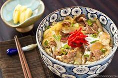 Gyudon (Beef Rice Bowl)   Easy Japanese Recipes at JustOneCookbook.com