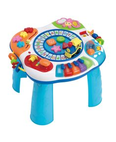 Your little one will have a blast with all that the Winfun Letter Train & Piano Activity Table has to offer. With various buttons and sounds around this stand-up activity table, your child will enjoy endless hours of fun exploring. Toddler Toys, Baby Toys, Kids Toys, Infant Activities, Activities For Kids, Play Centre, Learning Colors, Activity Centers, Color Shapes