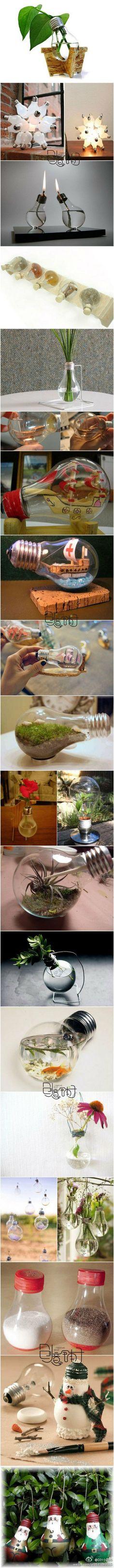 Lightbulb uses! I like the flower pot idea best
