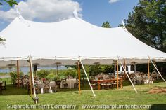 June 2014 wedding in a Sailcloth Tent!