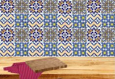 Portuguese-Tile-Sticker-Kitchen-Bathroom-decor-black-white-DECALS-SET-OF-24-H404